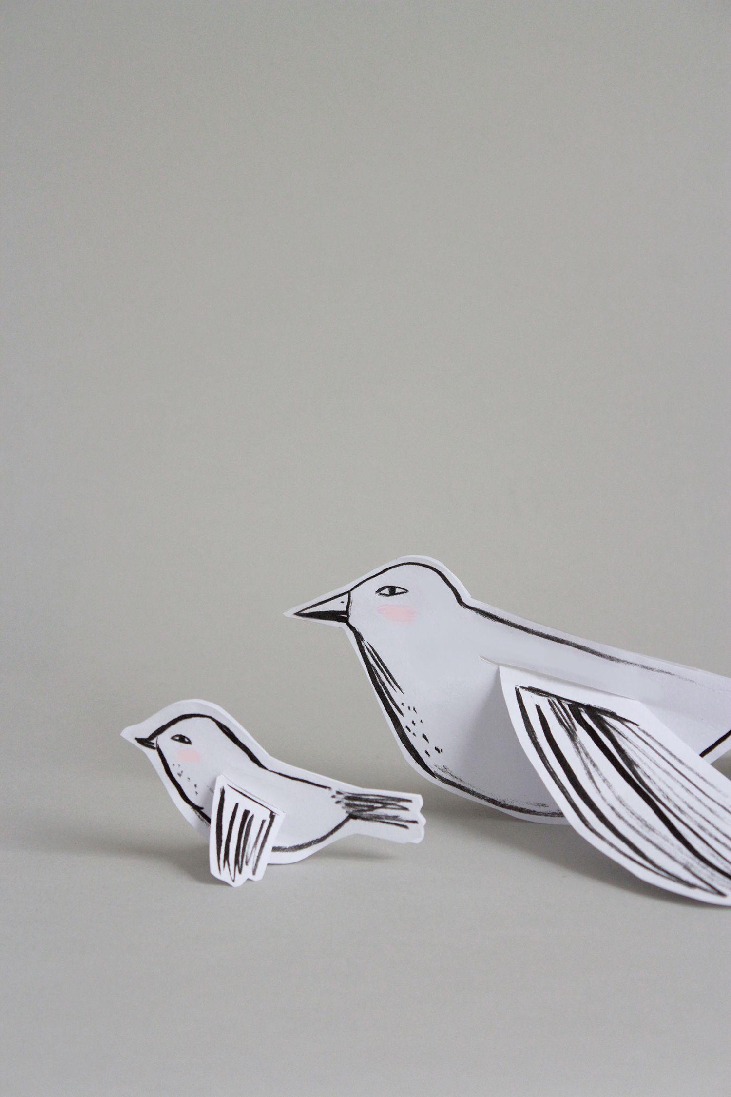 Free Printable Mamma Bird And Baby Bird Craft