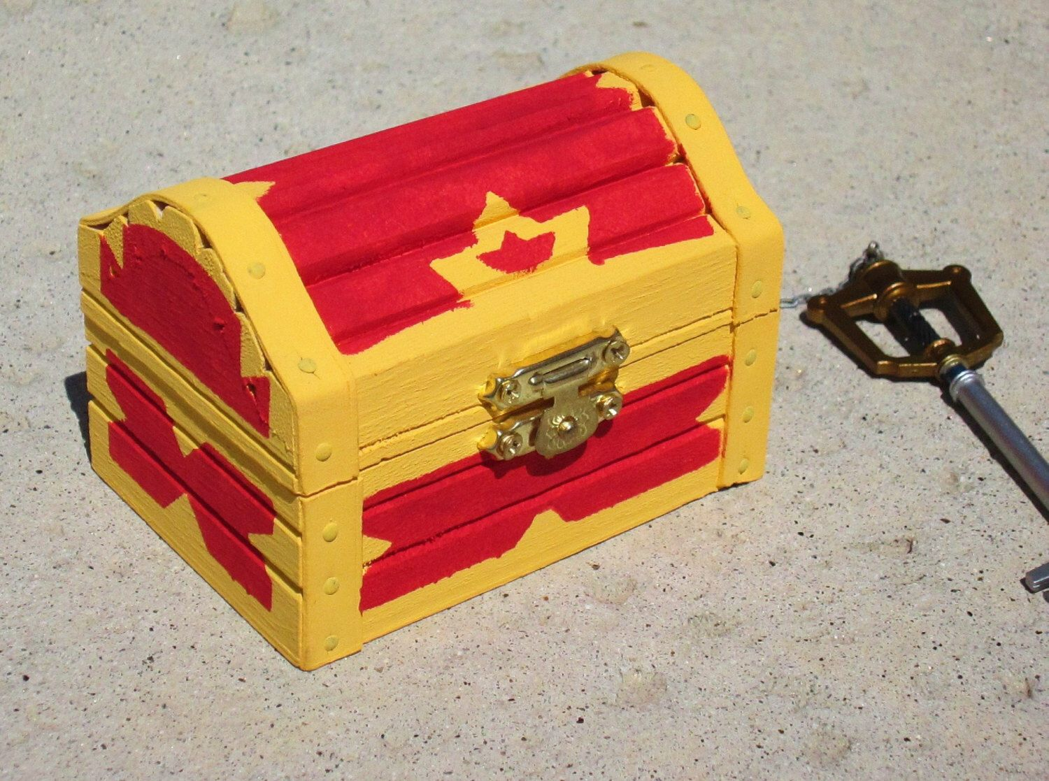 Kingdom Hearts Inspired Treasure Chest Trinket Box By Kaztielkrafts On Etsy Https Kingdom Hearts Woodworking Workshop Plans Chest Woodworking Plans