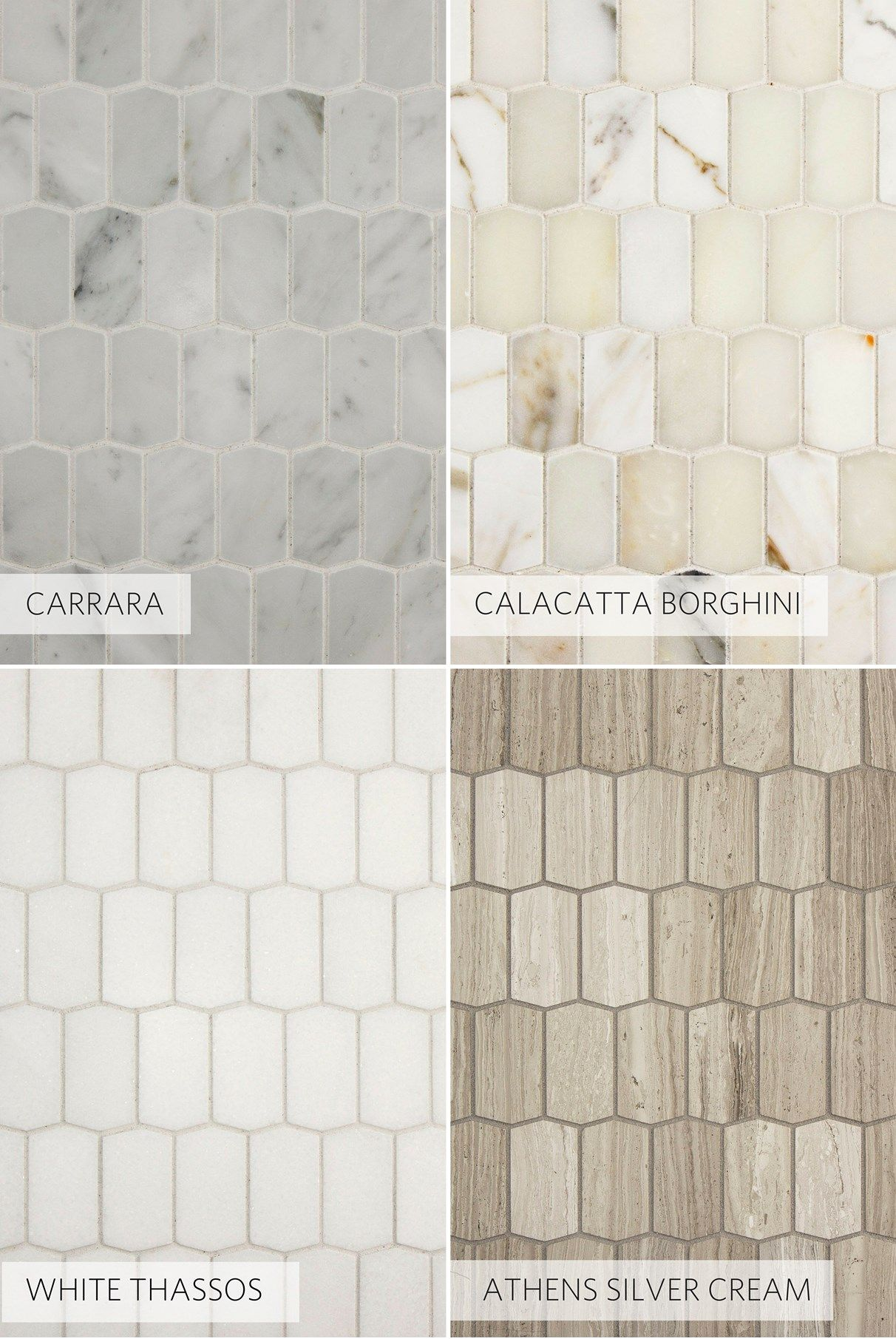 New hive mosaics, penny rounds, price-friendly porcelain and more ...