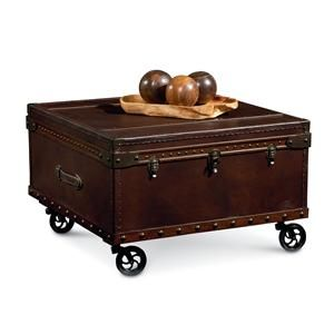 Steamer Trunk Coffee Table | Elizabeth Steamer Trunk Table With Casters By  Lane   Belfort Furniture