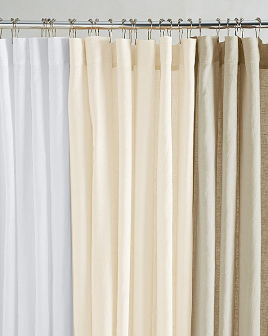3cb3cd95723 Eileen Fisher Washed Linen Shower Curtain