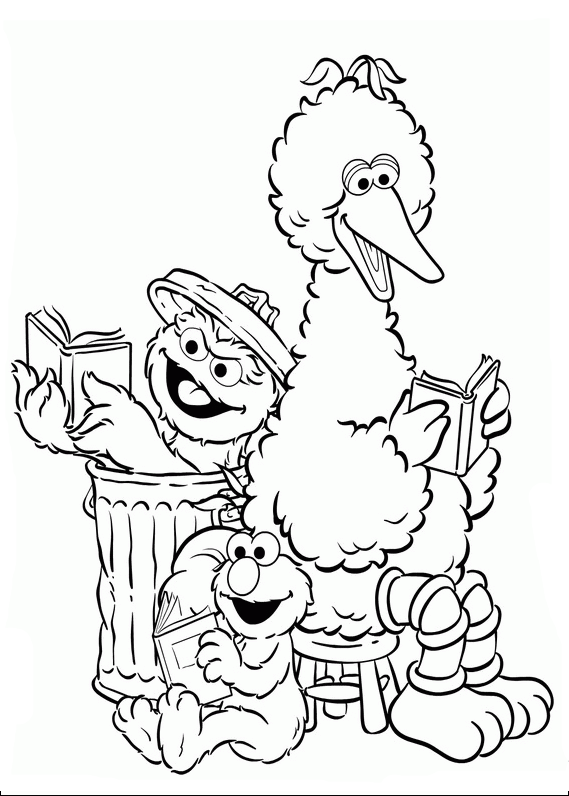 Elmo Reading Books Together   Elmo Coloring Pages   Pinterest