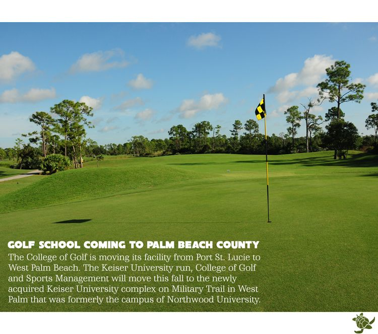 The College of Golf is moving its facility from Port St