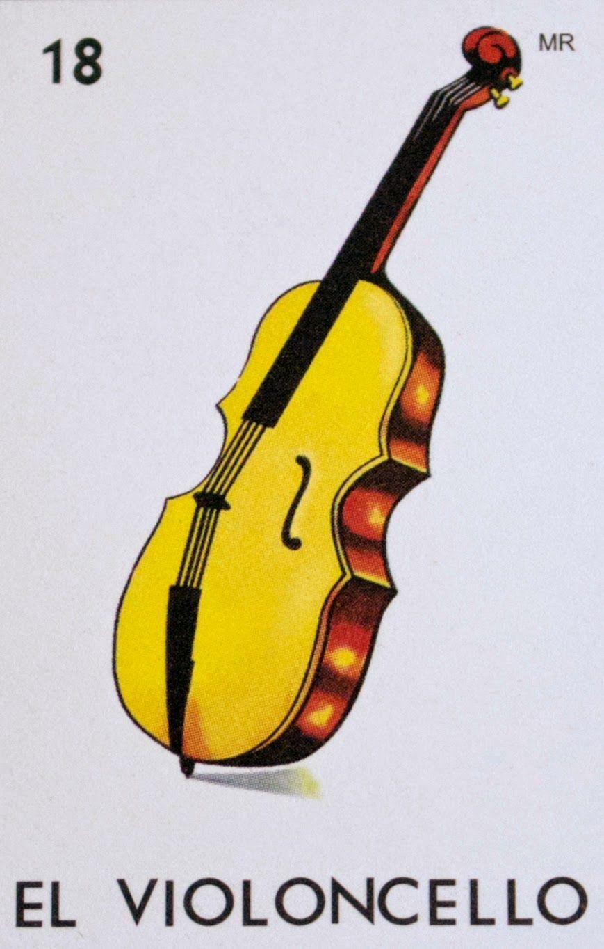Como No Fue Violin Tuvo Que Ser Violoncello Loteria Mexicana Loteria Cards Loteria Retro Painting