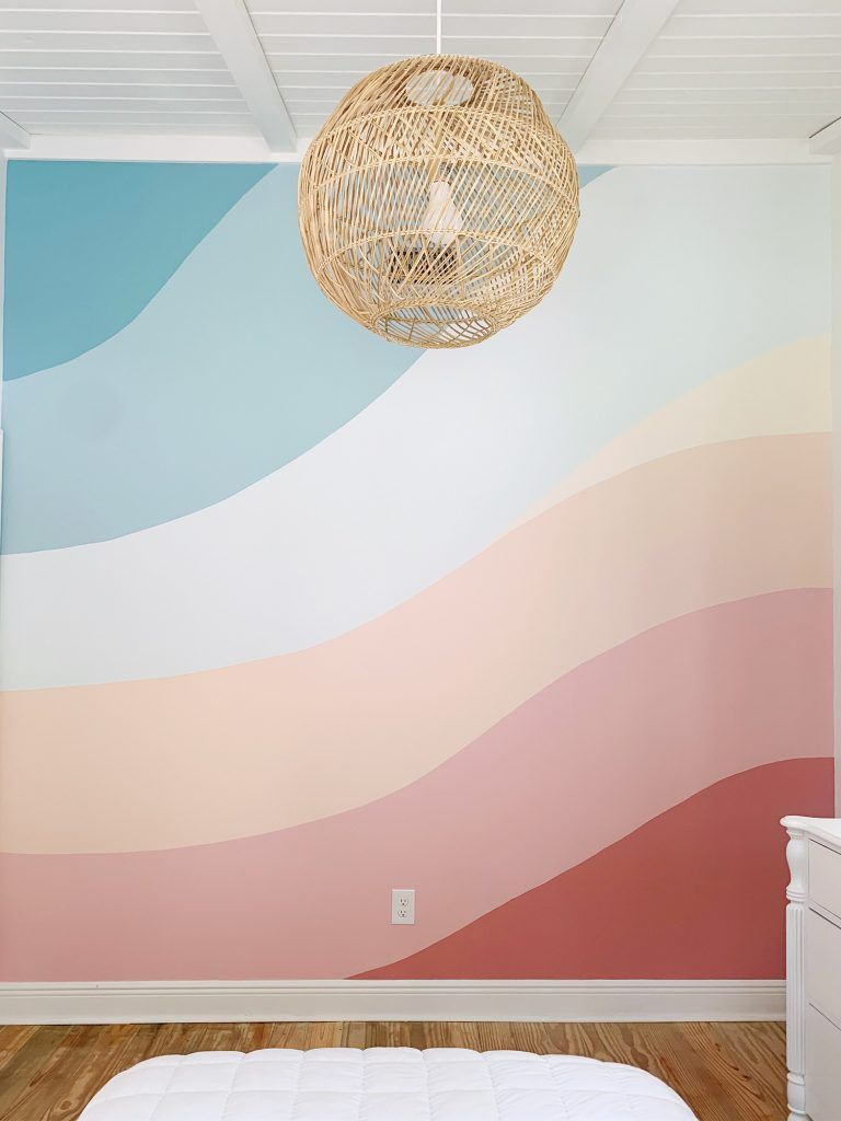 How We Painted A Colorful Abstract Wall Mural (UPD