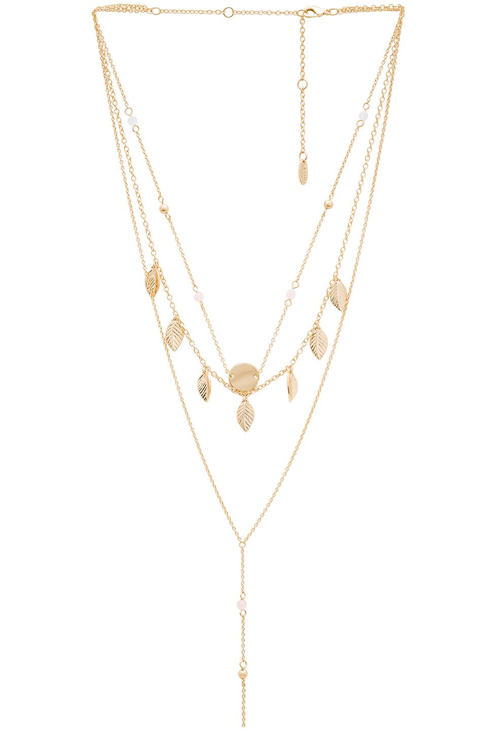 Ettika Fringe Layered Charm Necklace in Metallic Gold UNRueCAj