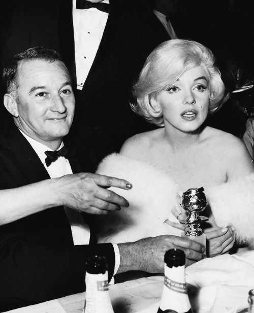 Marilyn Monroe And Rupert Allan At The Golden Globe Awards