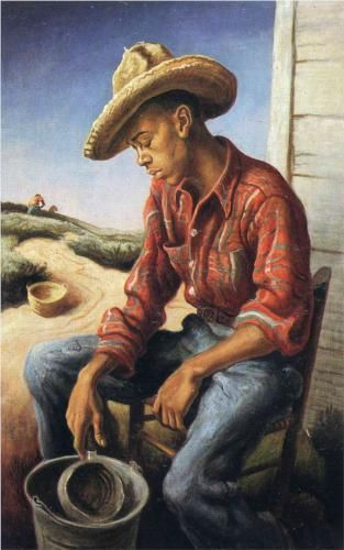 The Waterboy A 1946 Masterpiece By The Famous American Painter Thomas Hart Benton African American Art American Art Thomas Hart Benton