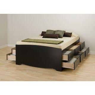 Black Queen 12 Drawer Captain S Platform Storage Bed Platform Bed With Storage Bed Frame With Storage