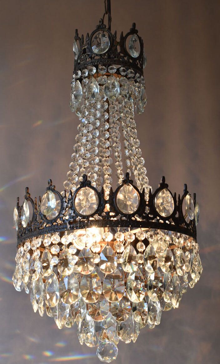 Free express delivery vintage crystal chandelier rewired antique free express delivery vintage crystal chandelier rewired antique french vintage crystal chandelier oriental arubaitofo Images