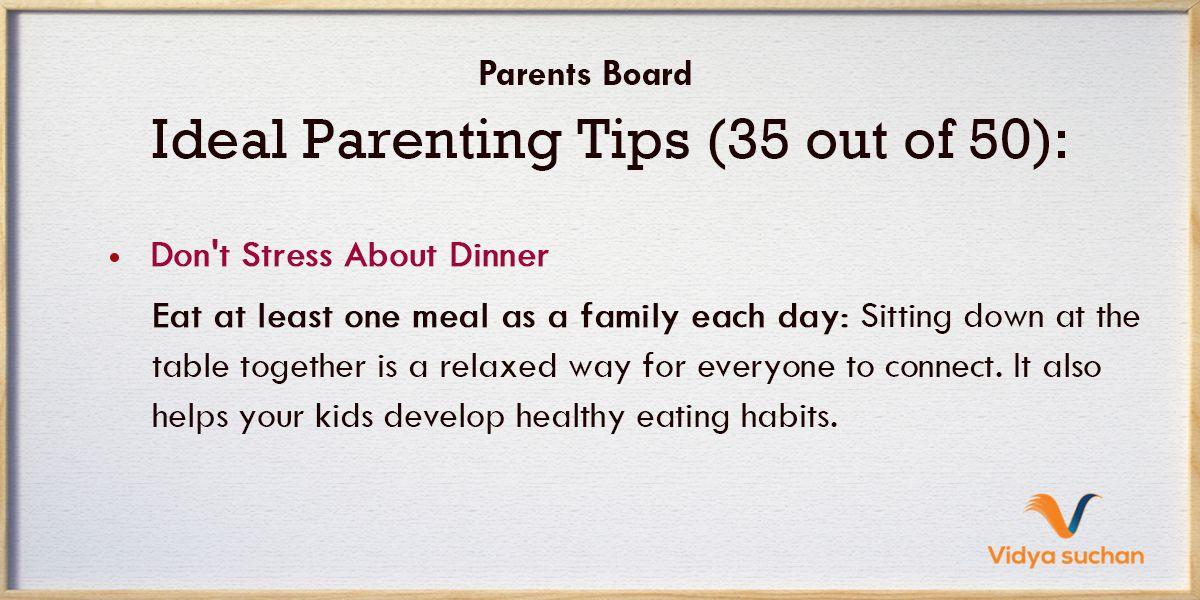 Ideal Parenting Tips (Tip 35)