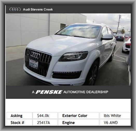 2011 Audi Q7 3.0 quattro TDI Premium Plus SUV  Intercooled Turbo, Body-Colored Bumpers, Rear Fog Lights, Double Wishbone Front Suspension, Heated Passenger Mirror, Seatback Storage: 2, Abs And Driveline Traction Control, Cargo Area Light, Passenger And Rear,
