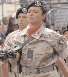 Female soldier of the Sassari Brigade.