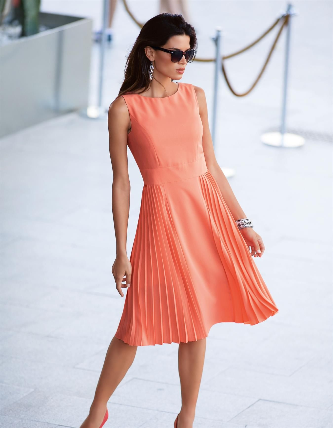 Kleid rosa orange
