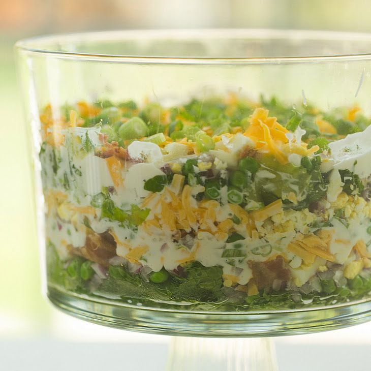 Seven Layer Salad Recipe Yummly Recipe Layered Salad Recipes Seven Layer Salad Layered Salad