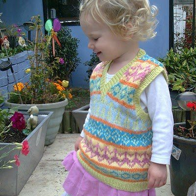 Free Knitting Pattern - Toddler & Children\'s Clothes: Fair Isle Tank ...