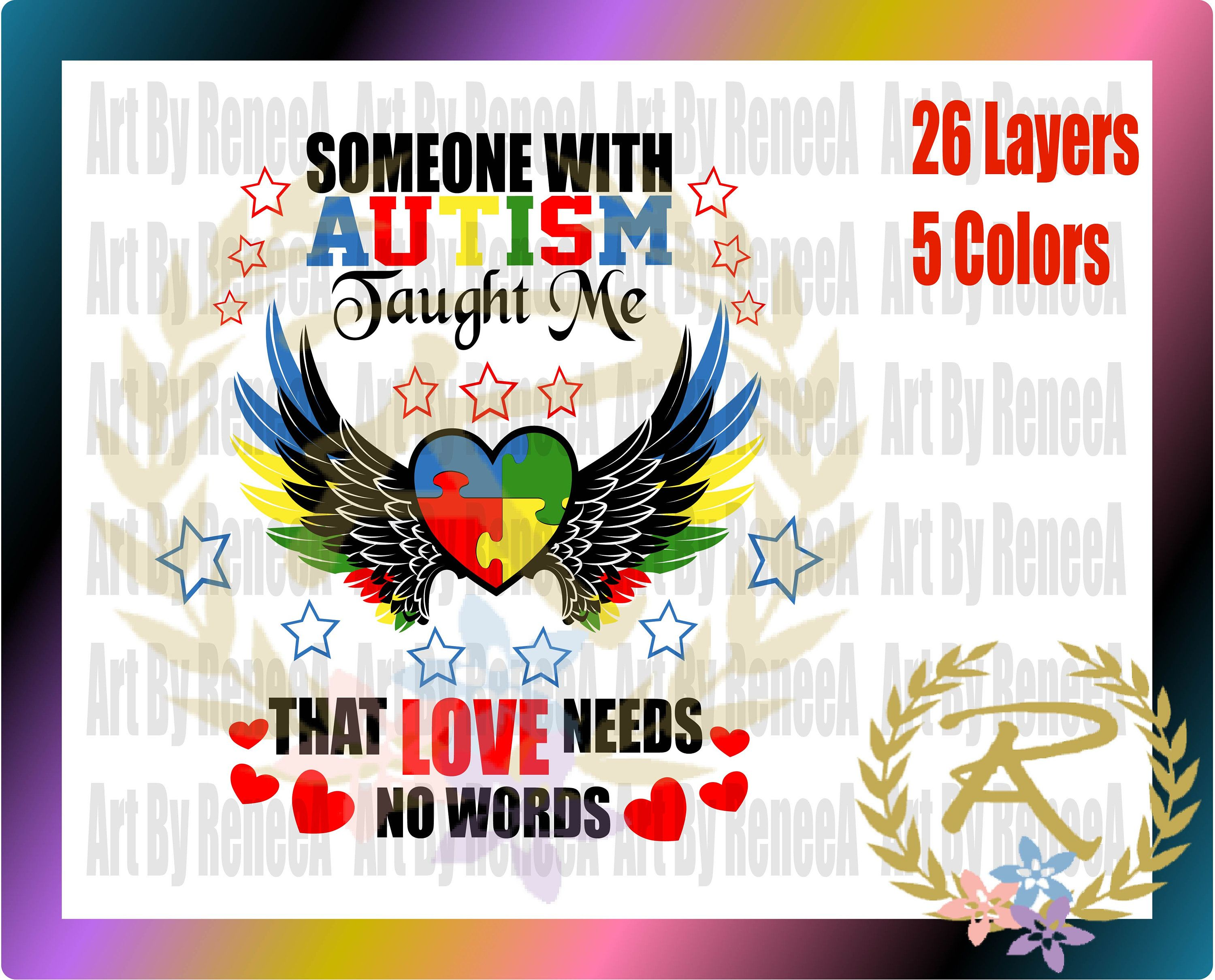 cd6e3cad09b Love Needs No Words (SVG, DXF, EPS,Studio3) | SVGs Digital Files ...