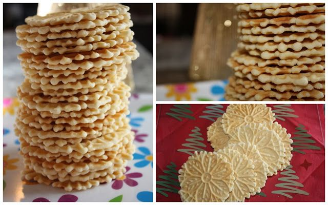 pizzelles (2012 kitchen frolic cookie recipe advent calendar - day 16)