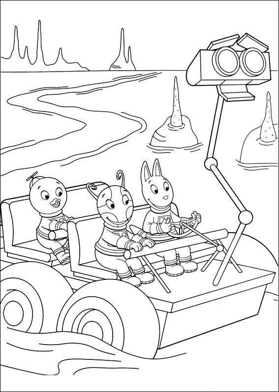Backyardigans Fargelegging for barn. Tegninger for utskrift og fargelegging nº 45