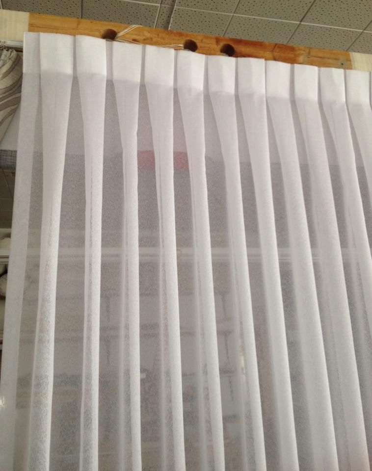 Box Pleated Sheer Drape Curtains Custom Drapes Drapes Curtains