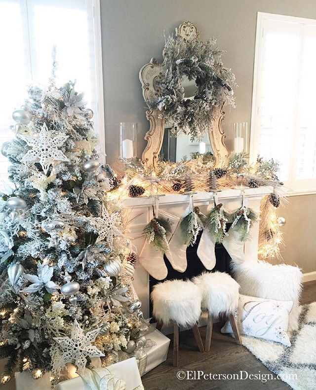 The stockings were hung by the chimney with care, in hopes that St. Nicolas soon would be there...Love this time of year ❄️⛄️❄️Make it a great night everyone! ✨ #ElPetersonDesign #Christmas2015 #tistheseason