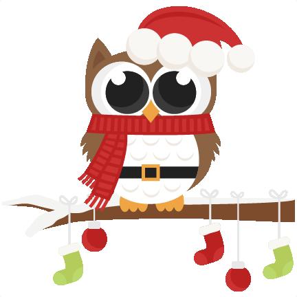 santa owl scrapbook clip art christmas cut outs for cricut cute svg rh pinterest com cute christmas clipart png cute christmas clipart pinterest