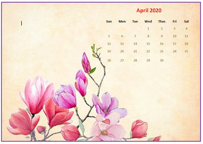 Monthly 2020 Desktop Calendar Wallpapers Calendar Wallpaper