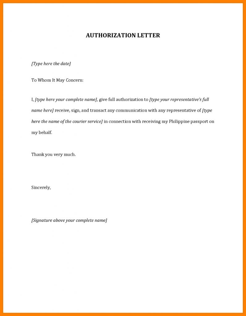 An Authorization Letter Is Issued By A Person Company Or Company