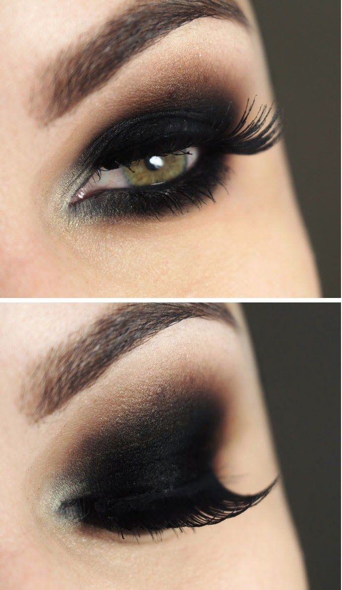 Black Smokey Eye Makeup Tutorials Mi Pinterest Black Smokey