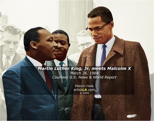 Martin L. King, Jr. meets Malcolm X, March 26, 1964.