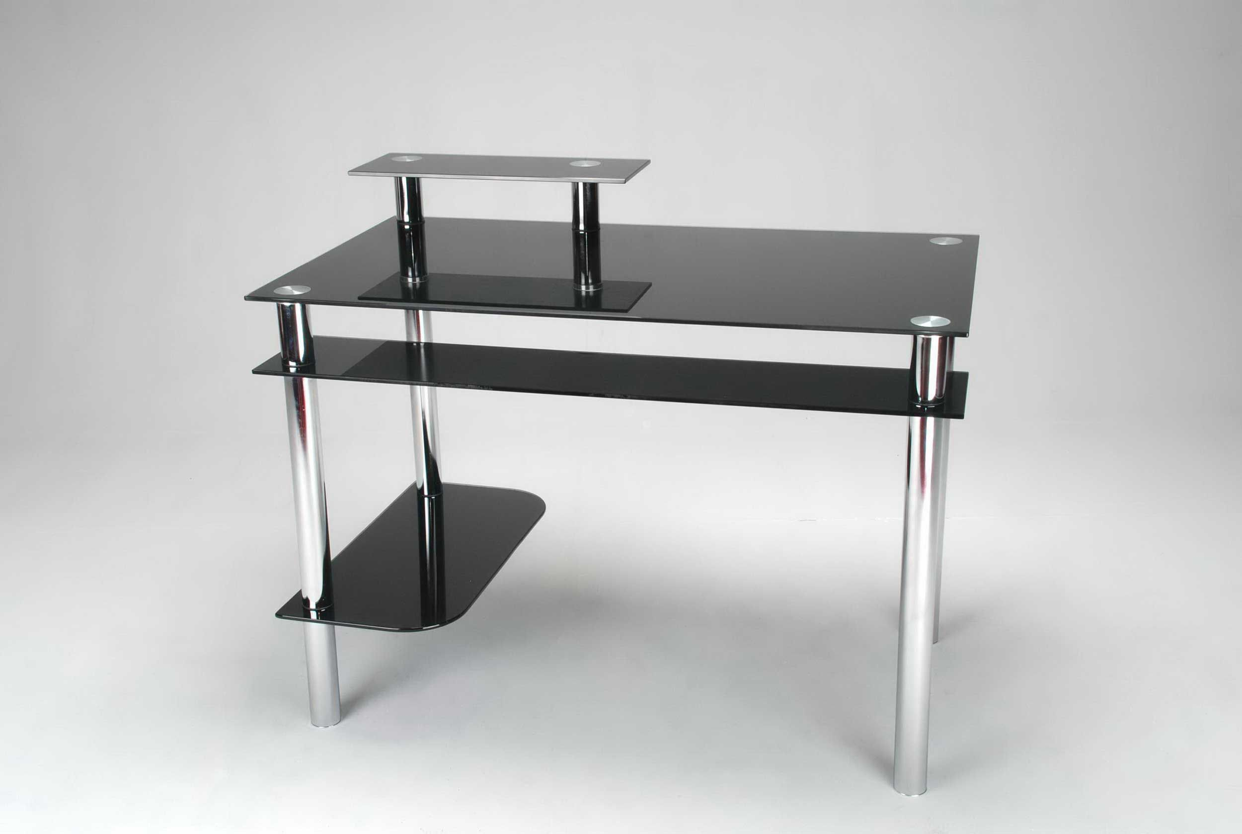 Black Glass Computer Desk Homebase | Doces Abobrinhas | Pinterest | Black Glass  Computer Desk, Black Glass And Glass Table