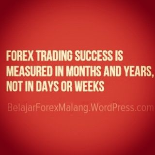 Forex Trading Success Is Measured In Months And Years Not In Days