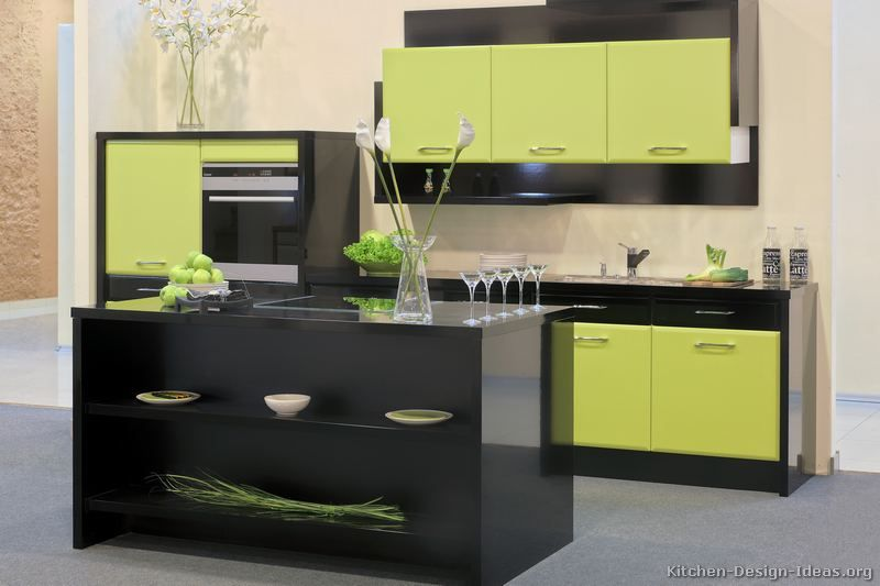Charming Black And Green Kitchen Ideas Part - 4: #Kitchen Of The Day: Green And Black Modern Two-Tone Kitchen #281