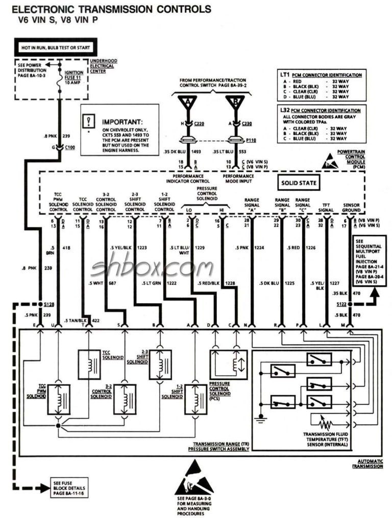 Wiring Diagram 4l60e Automatic Transmission Parts Diagrams
