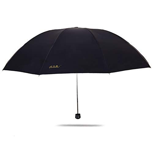 Paradise Umbrella Three Folding Umbrella, Black Gum Rainproof and Sunscreen Umbrella,48 Inch Large Sunshade Umbrellas for Men and Women UV Protection #largeumbrella