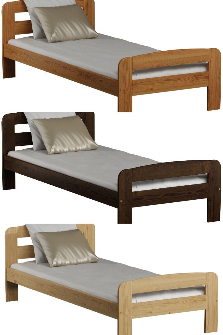 Details About Solid Wood Bed Frame Pine Oak Alder Walnut Single Double Super King Slatted In 2020 Solid Wood Bed Frame Wooden Bed Frames Bed Frame