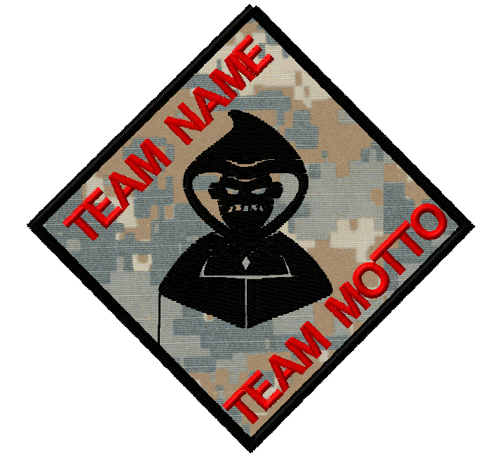 Evil Hooded Dude Team Template Patch | Patches, Evil ...