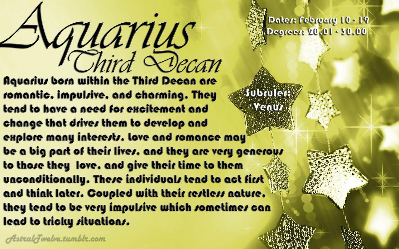 third decan aquarius compatibility