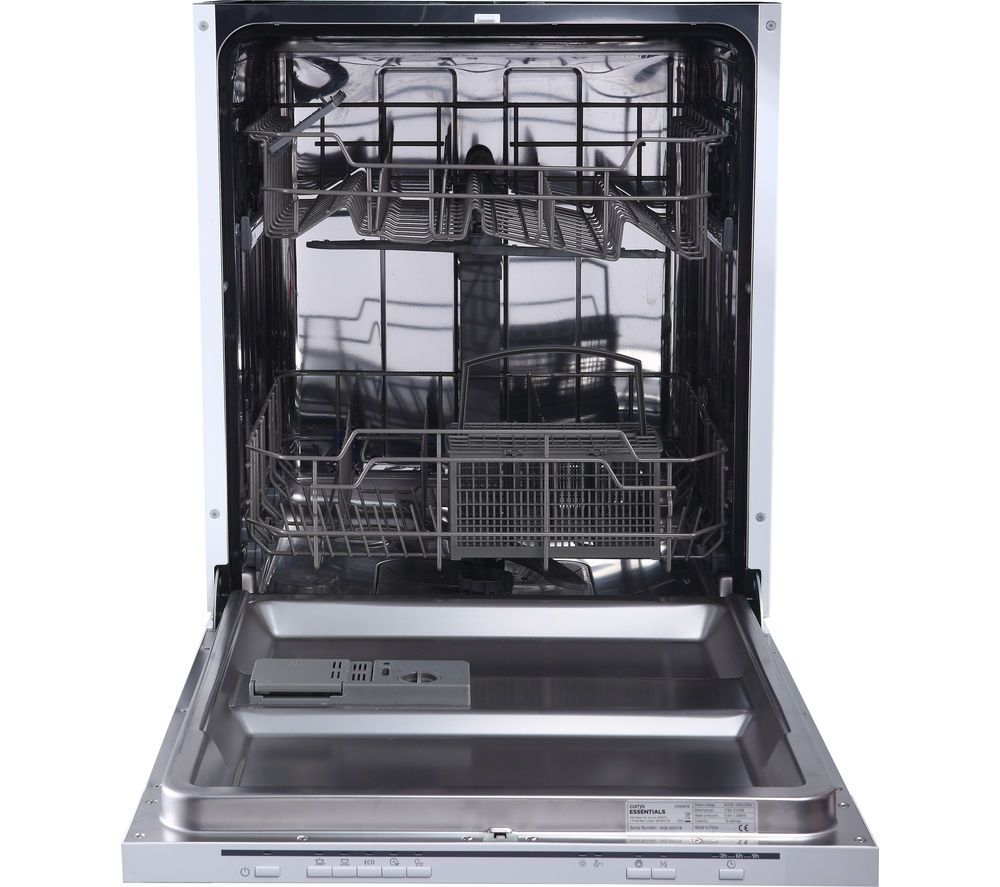 Essentials Cid60w16 Full Size Integrated Dishwasher Integrated