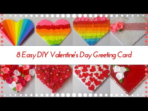 8 Easy Diy Heart Shaped Greeting Card Designs For Valentines Day Greeting Ideas By Maya Kalista Valentines Day Greetings Valentines Diy Valentine S Day Diy
