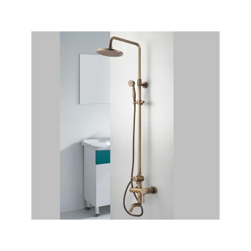 Faucets Shower Faucets Antique Brass Single Handle Wall Mount Rain Handheld Shower Faucet Shower Faucet Shower Taps Shower Enclosure Kit