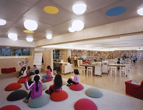 Elementary school library design make an interesting - What do you learn in interior design school ...