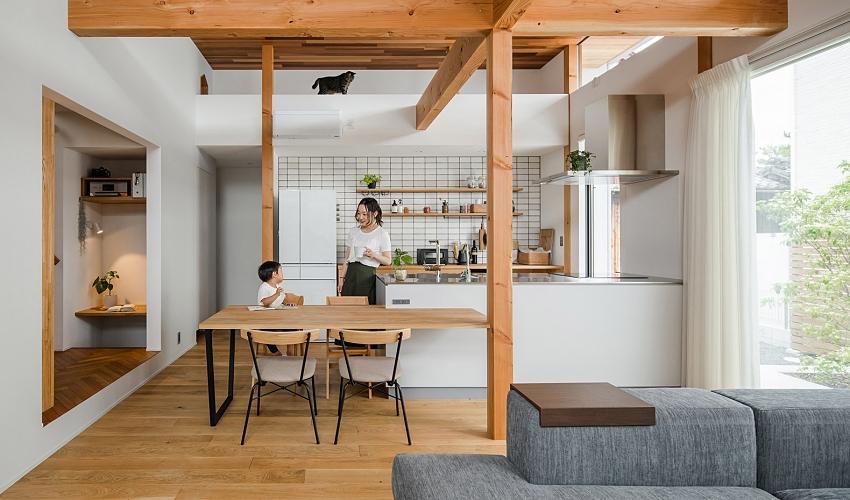 清新無印風!日本 47 坪簡約木質親子宅 設計新聞