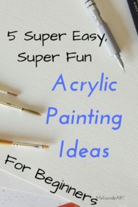 5 super easy super fun acrylic painting ideas for for Creare piantine online