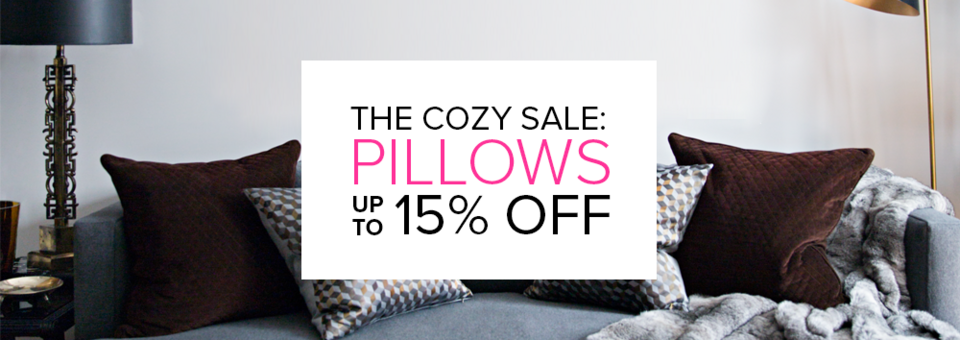 the cozy sale: pillows for every style and space