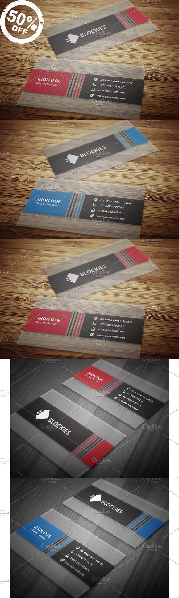 Semi transparent business card creative business card templates semi transparent business card creative business card templates accmission Images