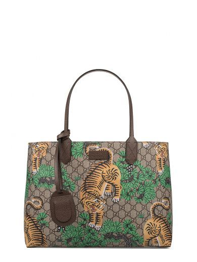 48ad5669d7d9d8 GUCCI Sand/Brown/Tobacco Gucci Bengal Gg Supreme Tote. #gucci #bags  #shoulder bags #hand bags #suede #tote #lining #