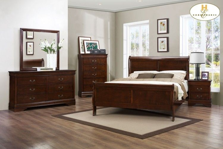 Homelegance Mayville Bedroom Set in Burnish Brown Cherry local