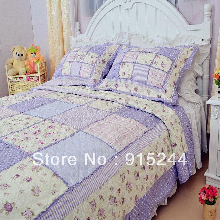 Find More Information about cotton handmade patchwork ruffle ... : cheap handmade quilts - Adamdwight.com