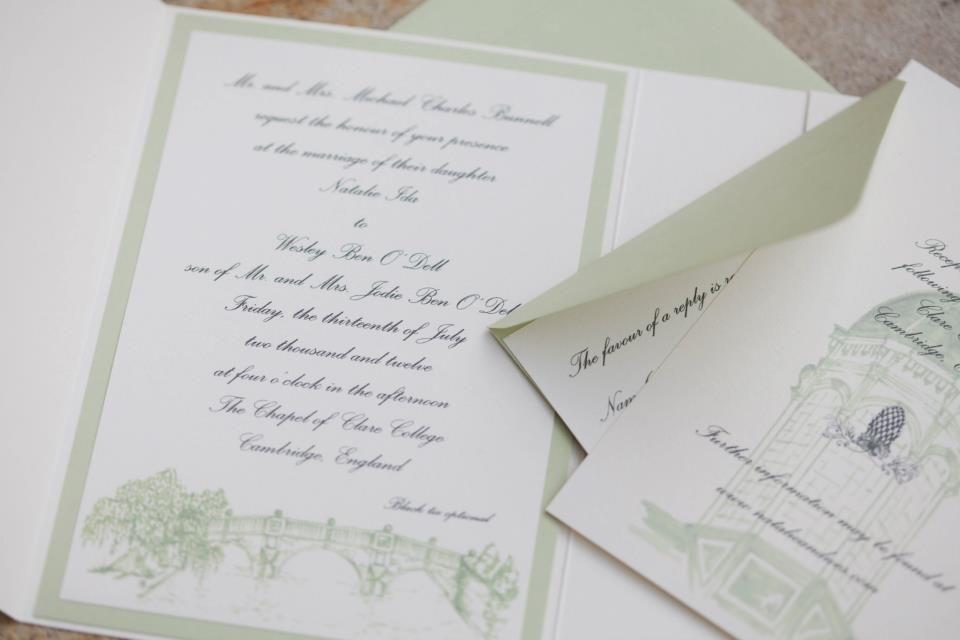 invitation design and printing by chez la mariée (www.etsy.com/shop ...